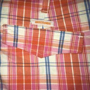 Abercrombie plaid cropped pants